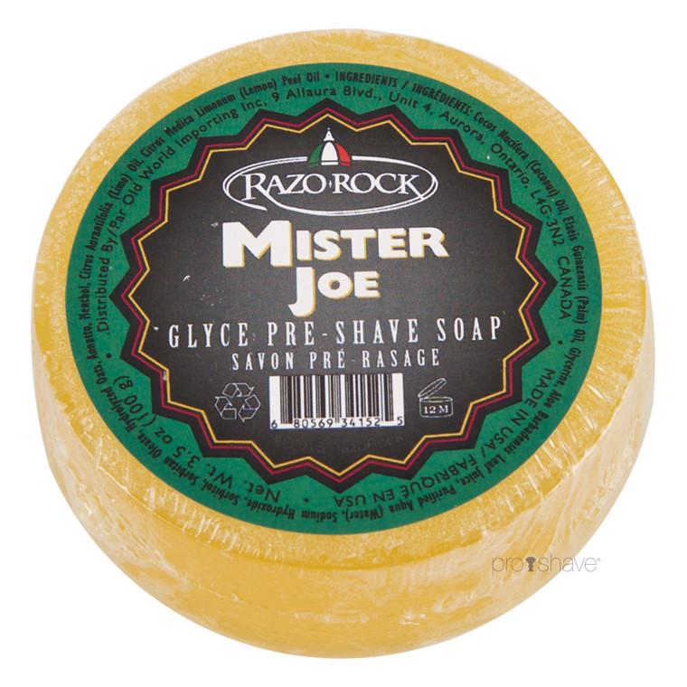 RazoRock Mister Joe Preshavesæbe, Menthol & Lime, 100 gr.