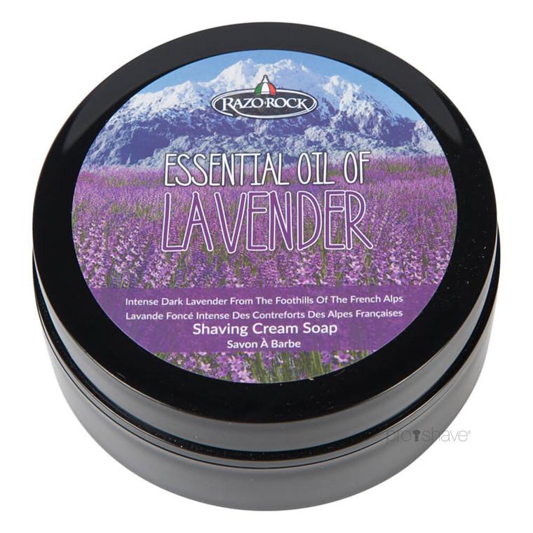 RazoRock Essential Oil of Lavender Barbersæbe, 125 ml.