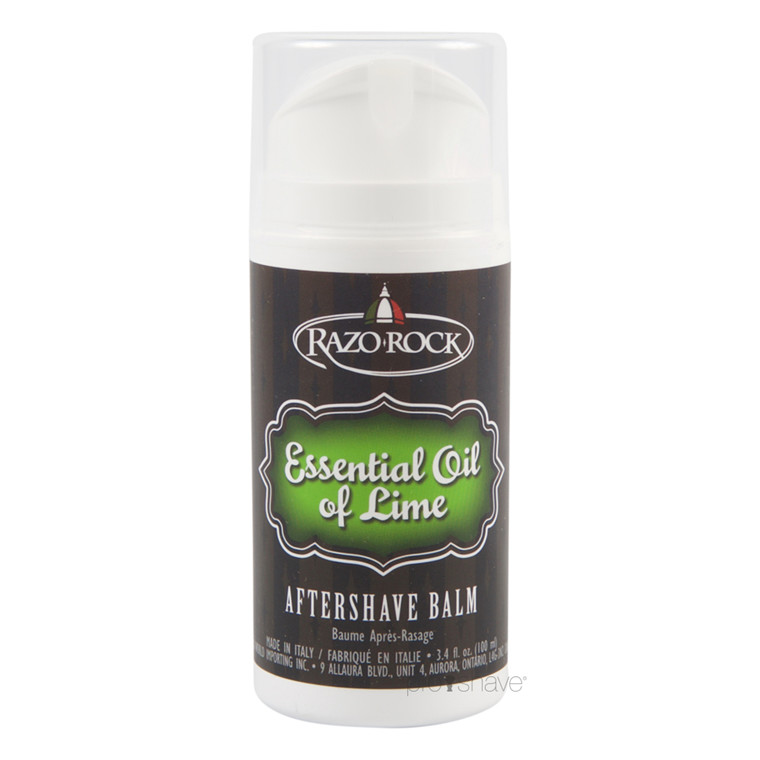 RazoRock Essential Oil of Lime Aftershave Balm, 100 ml.