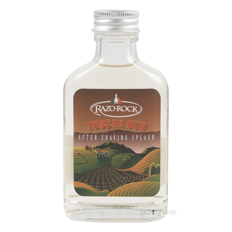 RazoRock Tuscan Oud Aftershave Splash, 100 ml.