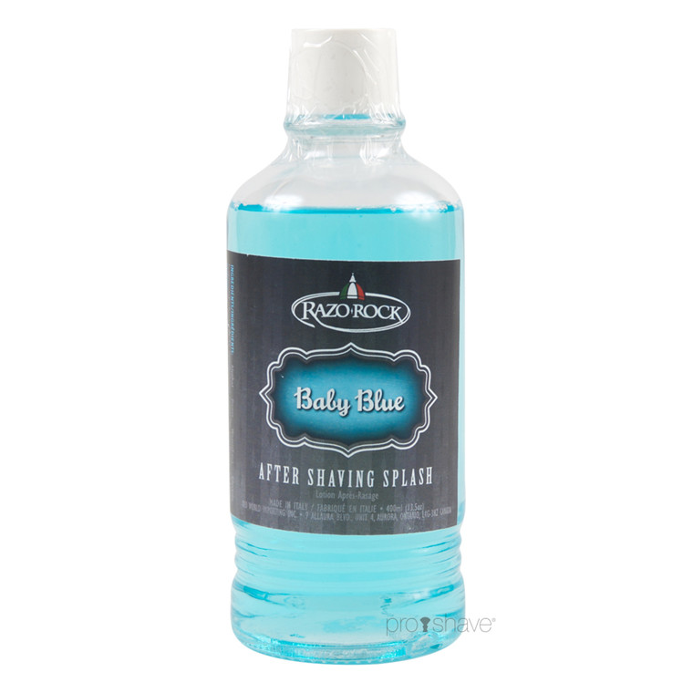 RazoRock Baby Blue Aftershave Splash, 400 ml.