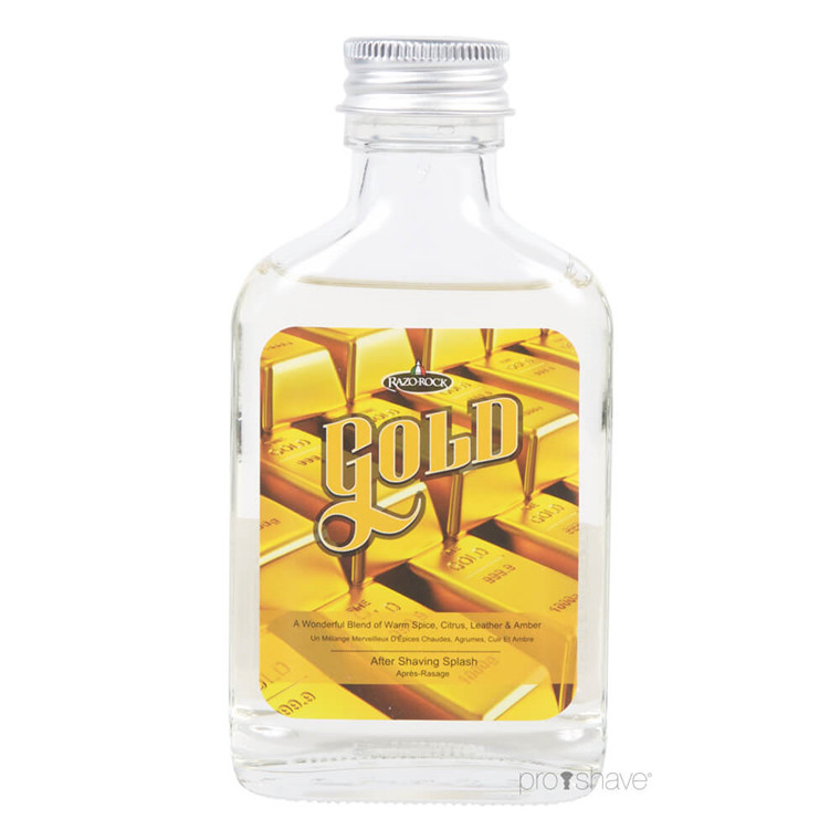 RazoRock Gold Aftershave Splash, 100 ml.