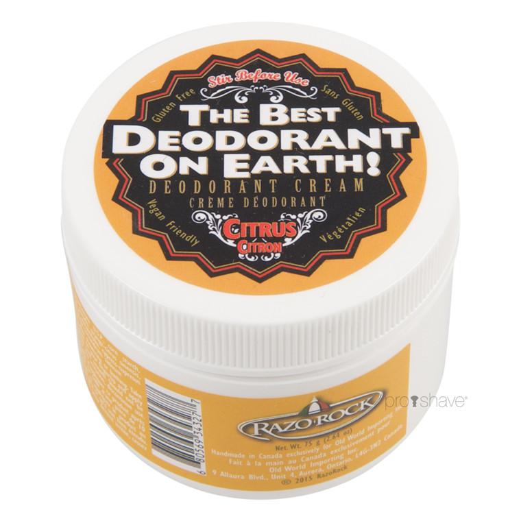 RazoRock Deodorant Creme, Citrus, 75 gr.