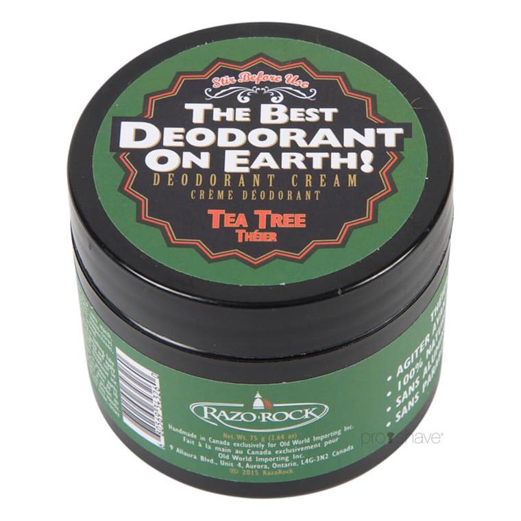 RazoRock Deodorant Creme, Tea Tree, 75 gr.