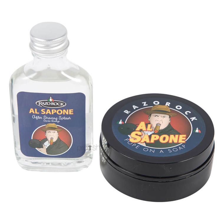 RazoRock Al Sapone Sæt, Barbersæbe og Aftershave