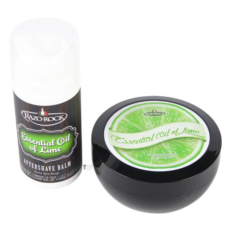 RazoRock Essential Oil of Lime Sæt, Barbersæbe og Aftershave