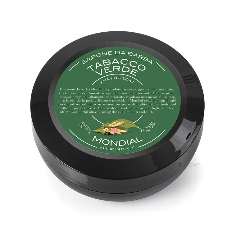 Mondial Shaving Barbersæbe, Green Tobacco, 60 gr.