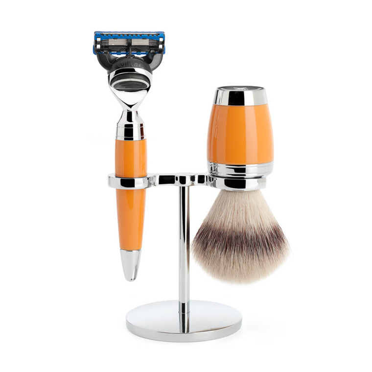 Mühle Barbersæt med Skraber, Barberkost og Holder, Stylo, Butterscotch