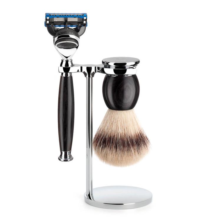 Mühle Barbersæt med Skraber, Barberkost og Holder, Sophist, African Blackwood