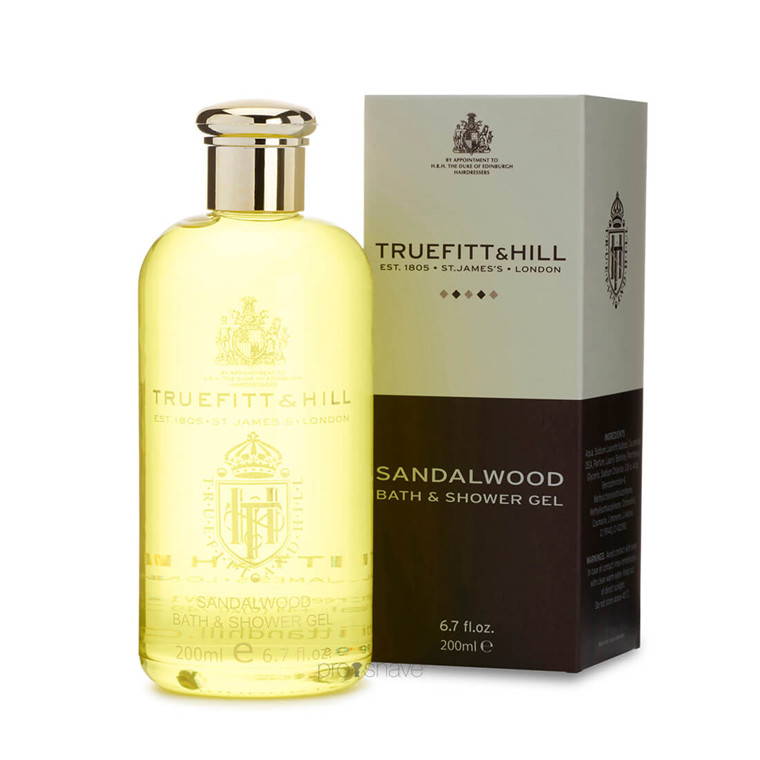 Truefitt & Hill Bath and Shower Gel, Sandalwood, 200 ml.