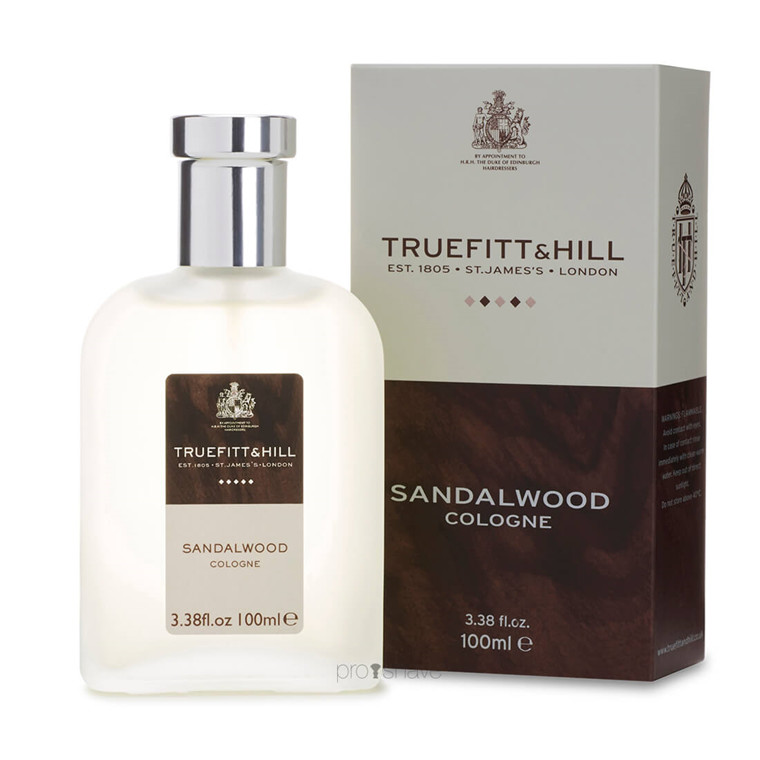 Truefitt & Hill Cologne, Sandalwood, 100 ml.
