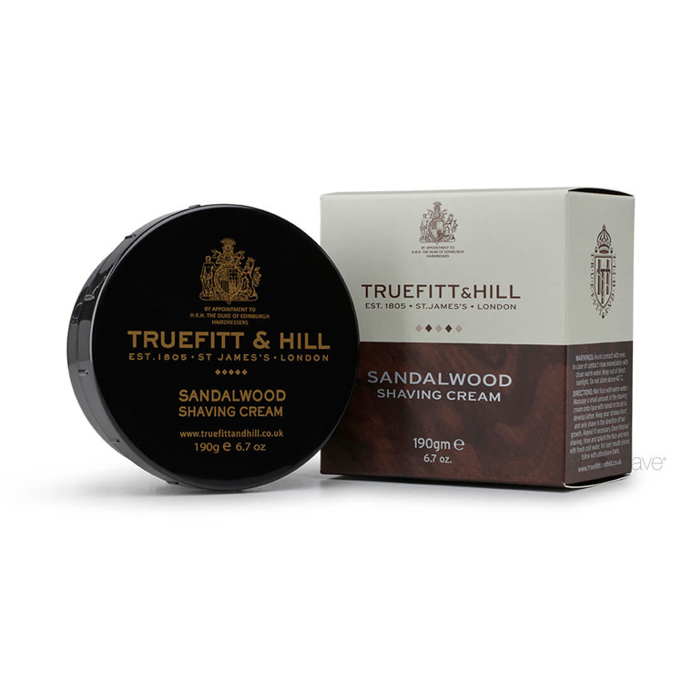 Truefitt & Hill Barbercreme, Sandalwood, 190 gr.
