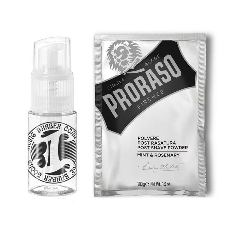 Proshave sæt med Proraso Talkum og Spray