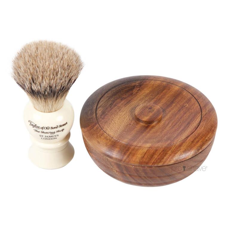 Taylor of Old Bond Street Sandeltræ Sæt, Barberkost og Barbersæbe