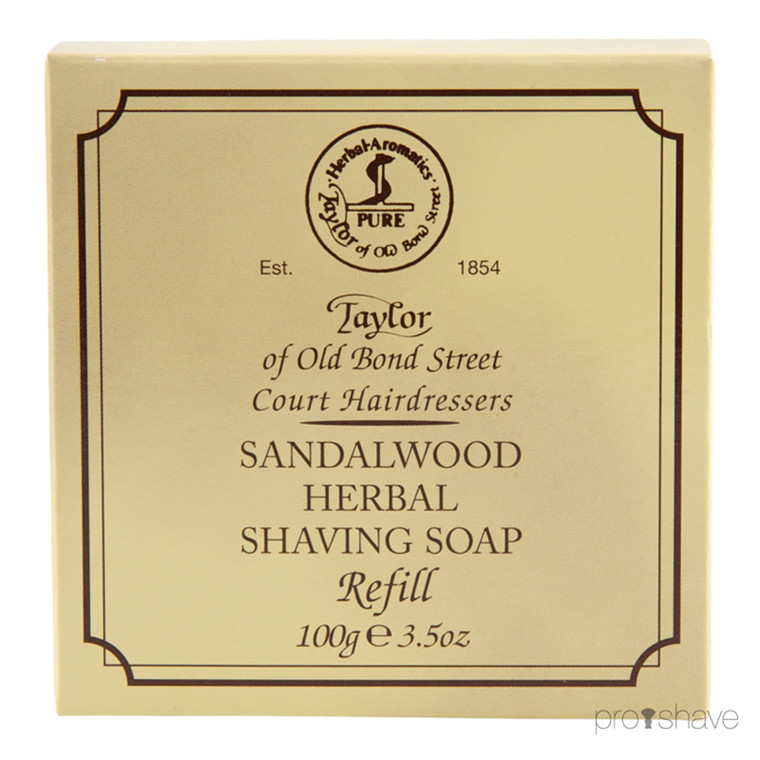 Taylor Of Old Bond Street Barbersæbe Refill, Sandeltræ, 100 gr.