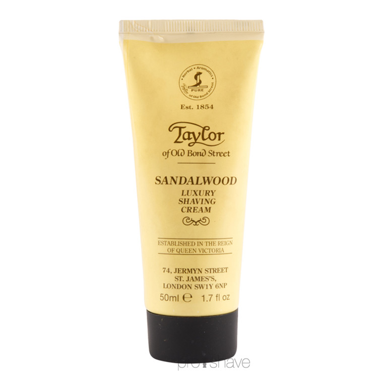 Taylor Of Old Bond Street Sandeltræ Barbercreme, 50 ml. (Rejse)