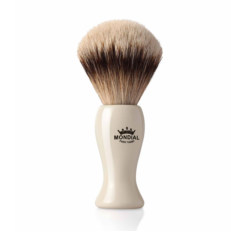 Mondial Silvertip Badger Barberkost, Tower, 22 mm, Ivory