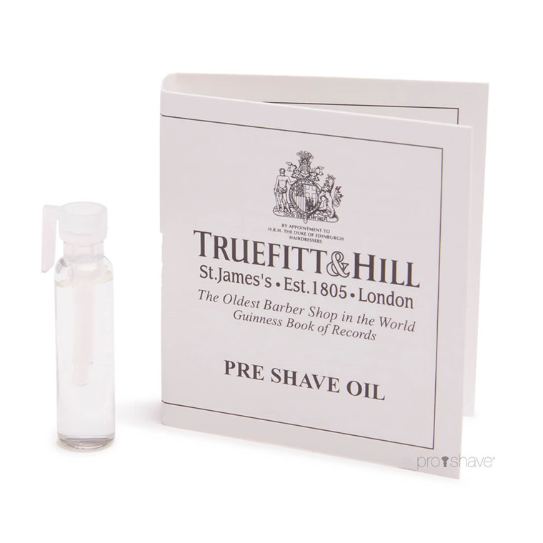 Truefitt & Hill Prøve Pre Shave Oil. 1,5 ml.