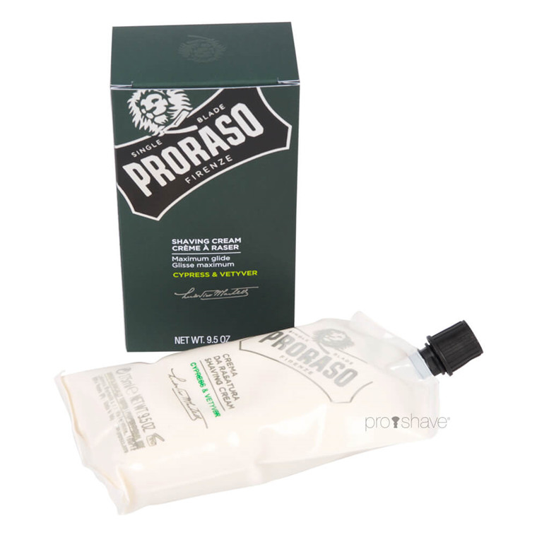 Proraso Barbercreme, Cypress & Vetiver, 275 ml.