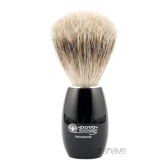 Dovo Barberkost, Sort Akryl, Pure Badger