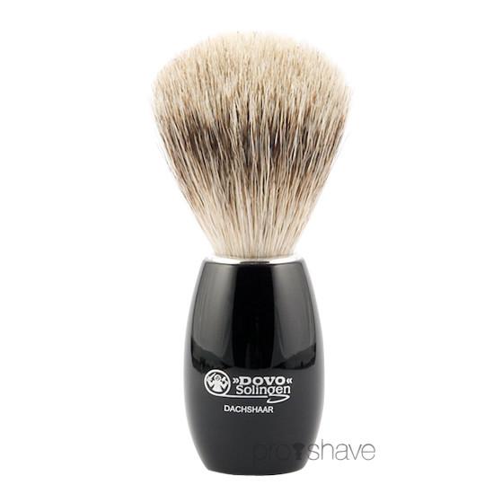 Dovo Barberkost, Sort Akryl, Pure Badger