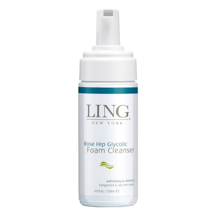 Ling New York Rose Hip Glycolic Foam Cleanser, 120 ml.