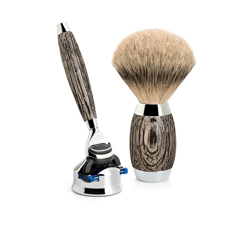 Mühle Edition No. 3, Barbersæt med Skraber, Barberkost og Holder til skraber, Moseeg & Sterling Sølv