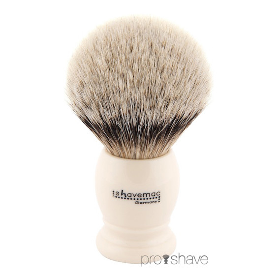 Shavemac Barberkost, Silvertip Badger, 30 mm.