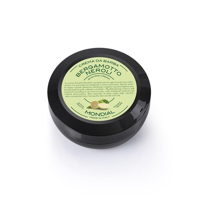Mondial Shaving Barbercreme i Rejsestørrelse, Bergamot Neroli, 75 ml.