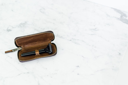 Supply Læderetui til Single Edge Skraber, Bourbon