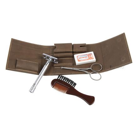 Dovo Sæt med skraber, næsehårssaks, barberblade og børste / kam til skæg