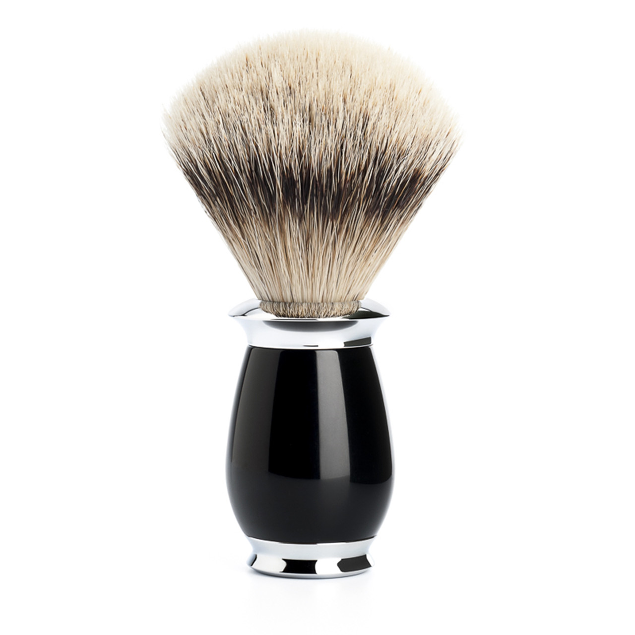 Image of   Mühle Silvertip Barberkost, 21 mm, Purist, Sort Kunstharpiks