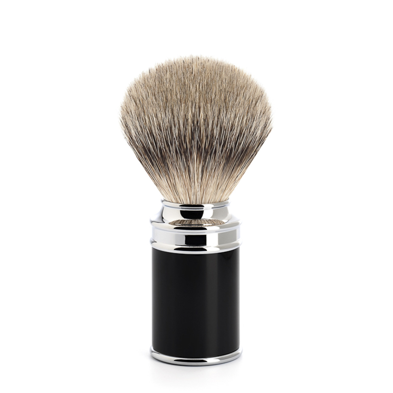 Image of   Mühle Silvertip Barberkost, 21 mm, Traditional, Sort Kunstharpiks