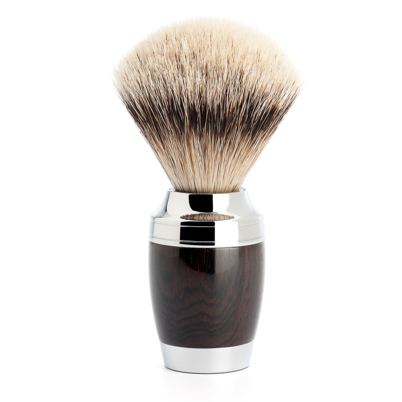 Image of   Mühle Silvertip Barberkost, 21 mm, Stylo, African Blackwood
