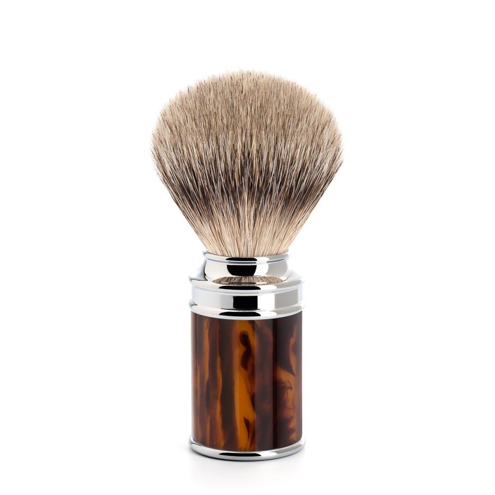 Image of   Mühle Silvertip Badger Barberkost, 21 mm, imit. skildpaddeskjold