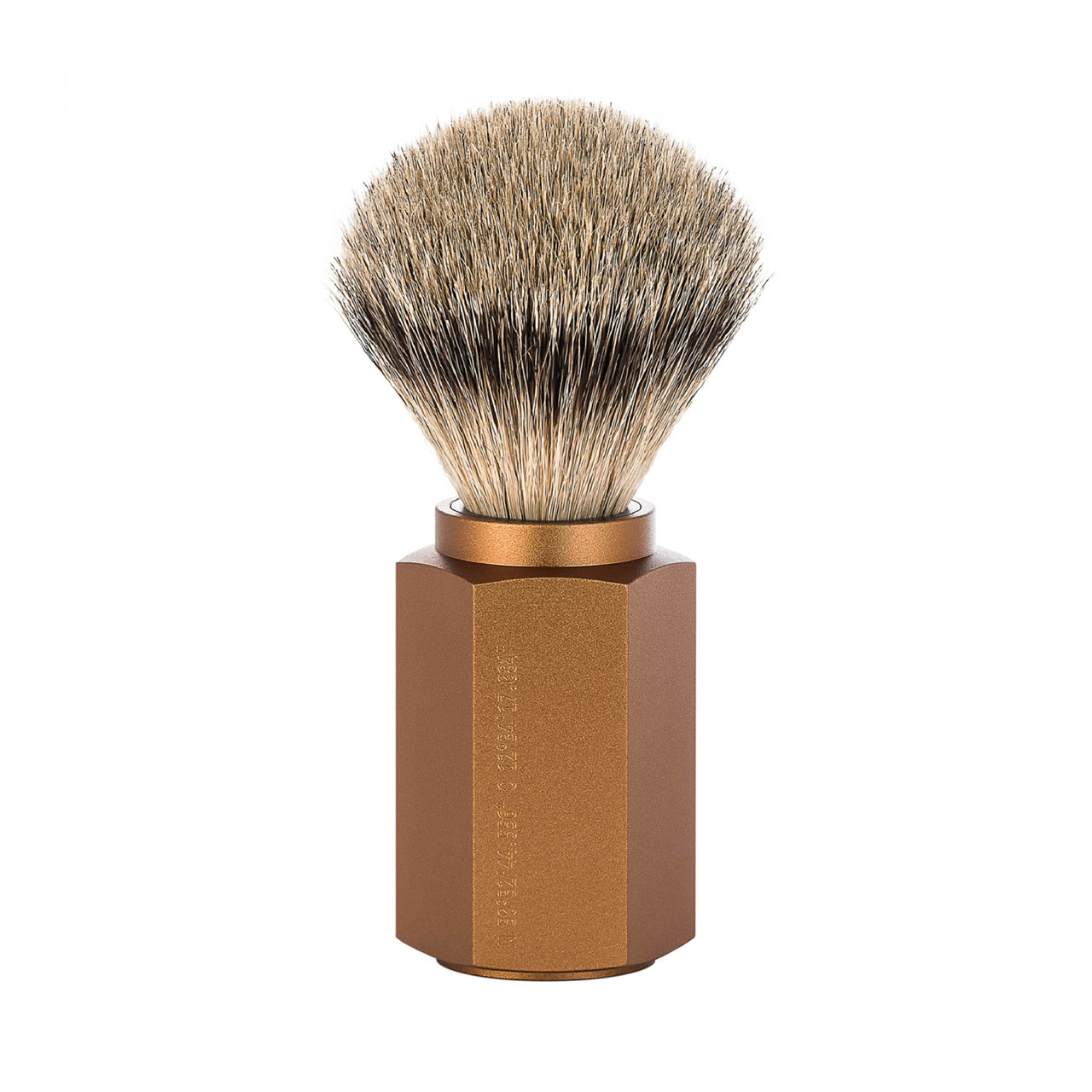 Image of   Mühle x Mark Braun Silvertip Badger Barberkost, 21 mm, Hexagon, Aluminium Bronze
