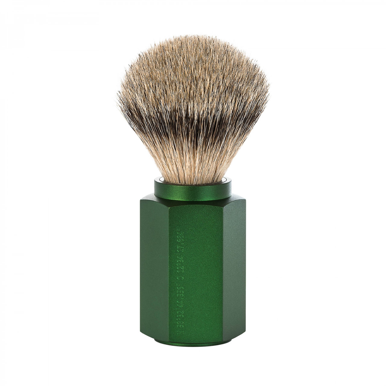 Image of   Mühle x Mark Braun Silvertip Badger Barberkost, 21 mm, Hexagon, Aluminium Forest