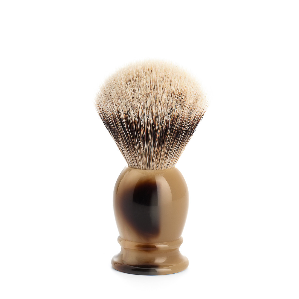 Image of   Mühle Silvertip Barberkost, 19 mm, Classic, Brunt Horn