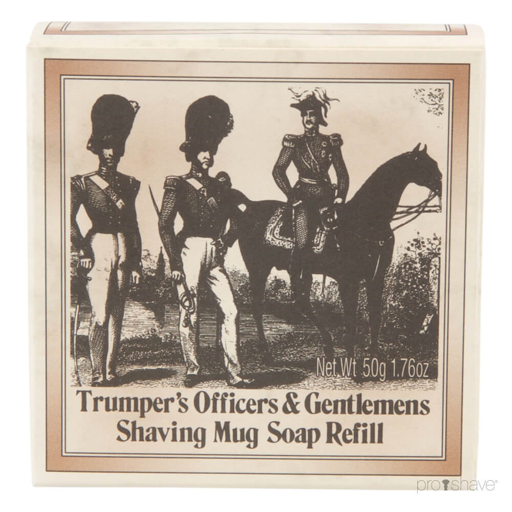Image of   Geo F Trumper Barbersæbe, Refill, Officer and Gentleman, 50 gr.