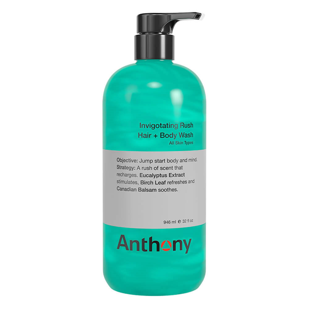 Image of   Anthony Invigorating Rush Hair & Body Wash, 946 ml.