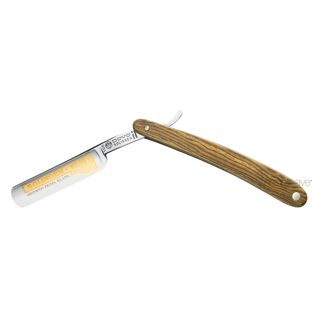 Image of   Dovo Straight Razor 5/8, Round nose, Bocote wood