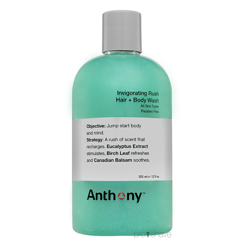 Image of   Anthony Invigoration Rush Hair & Body Shampoo, 355 ml.