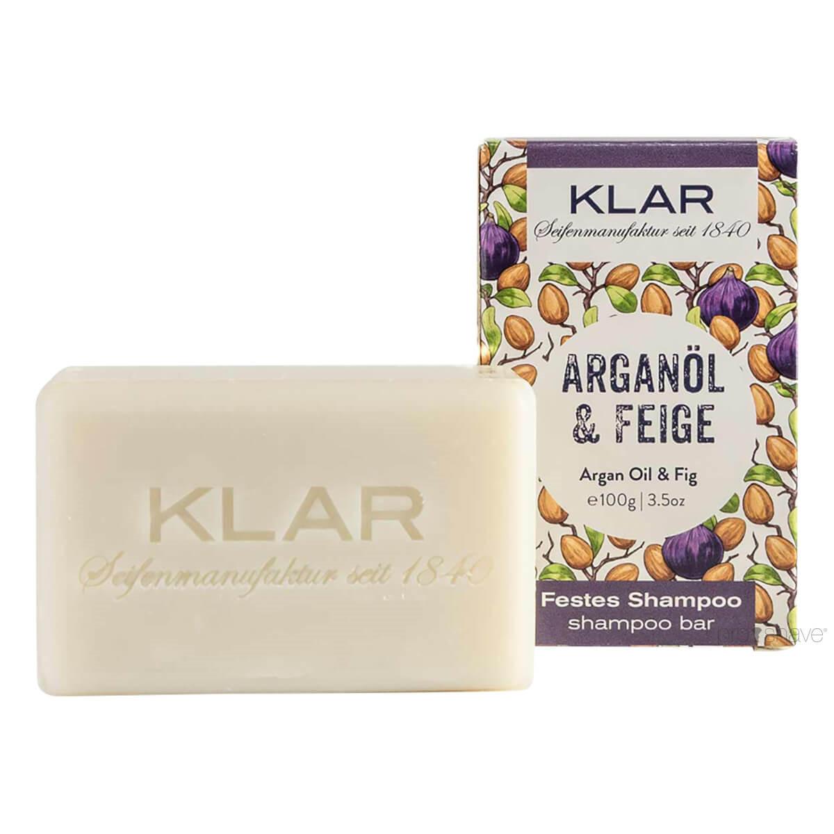 Billede af Klar Seifen Shampoo Bar, Argan Olie & Figen, 100 gr.