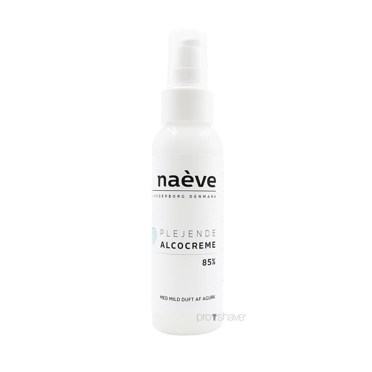 Naève Alcocreme, 85%, Pumpe, 100 ml.