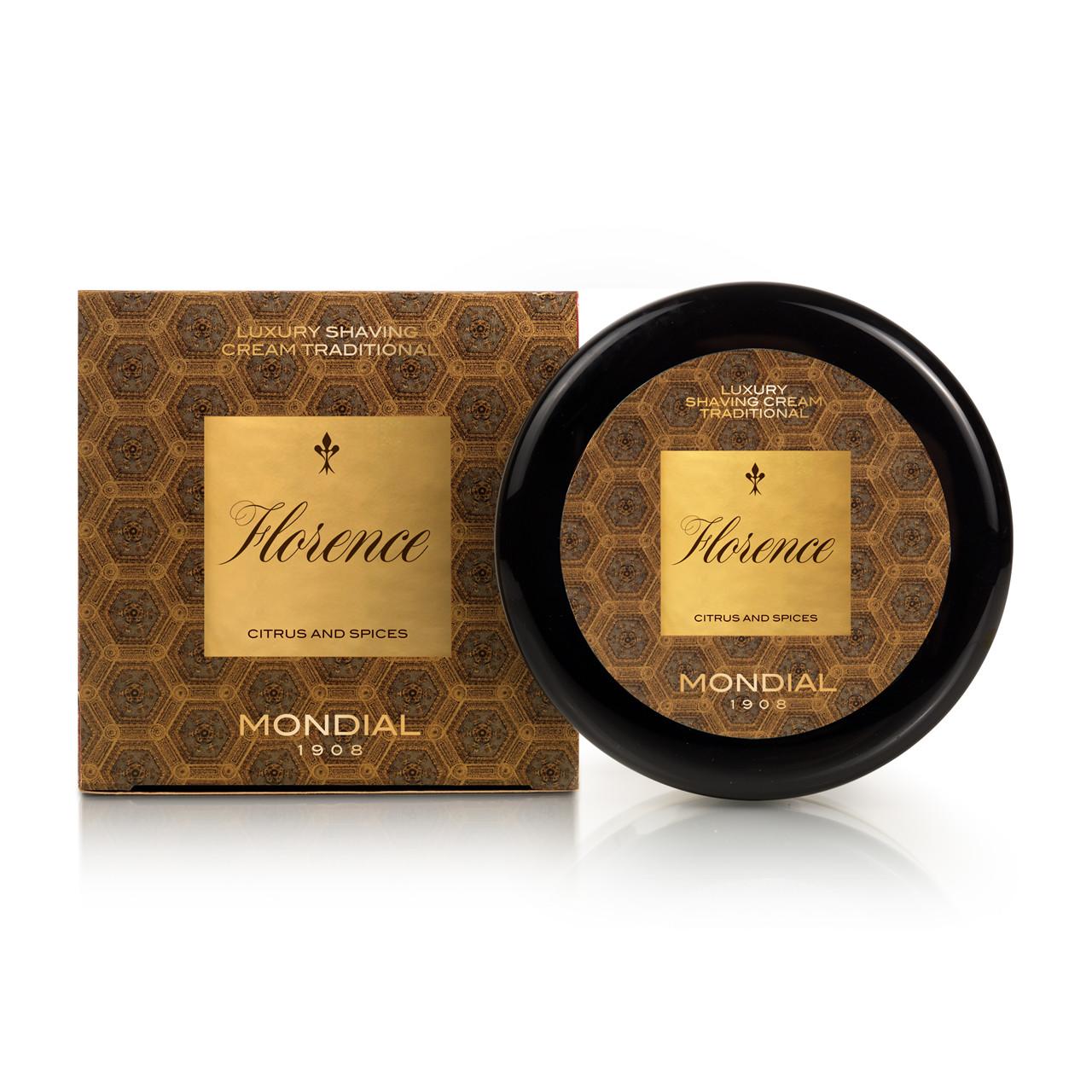 Image of   Mondial Florence Luksus Barbercreme i plasticskål, 150 ml.