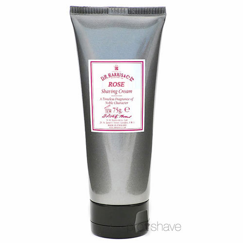 Image of   D.R. Harris Rose Barbercreme på tube, 75 gr.