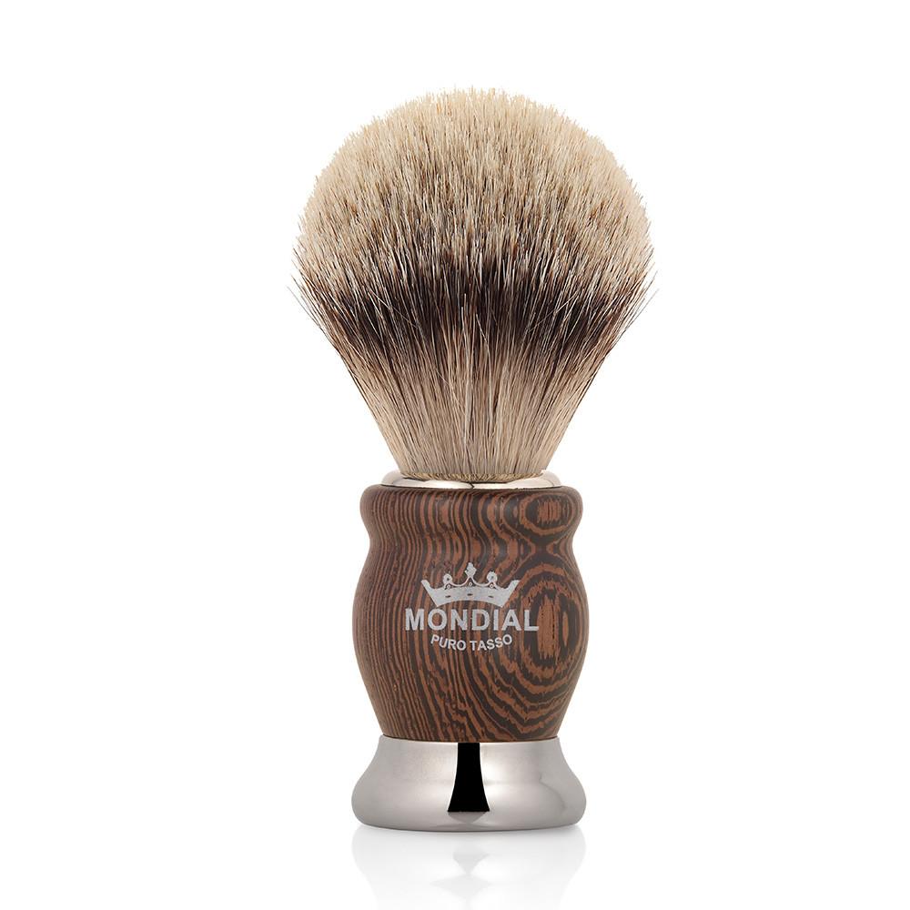 Image of   Mondial Silvertip Badger Barberkost, Heritage, Wenge træ