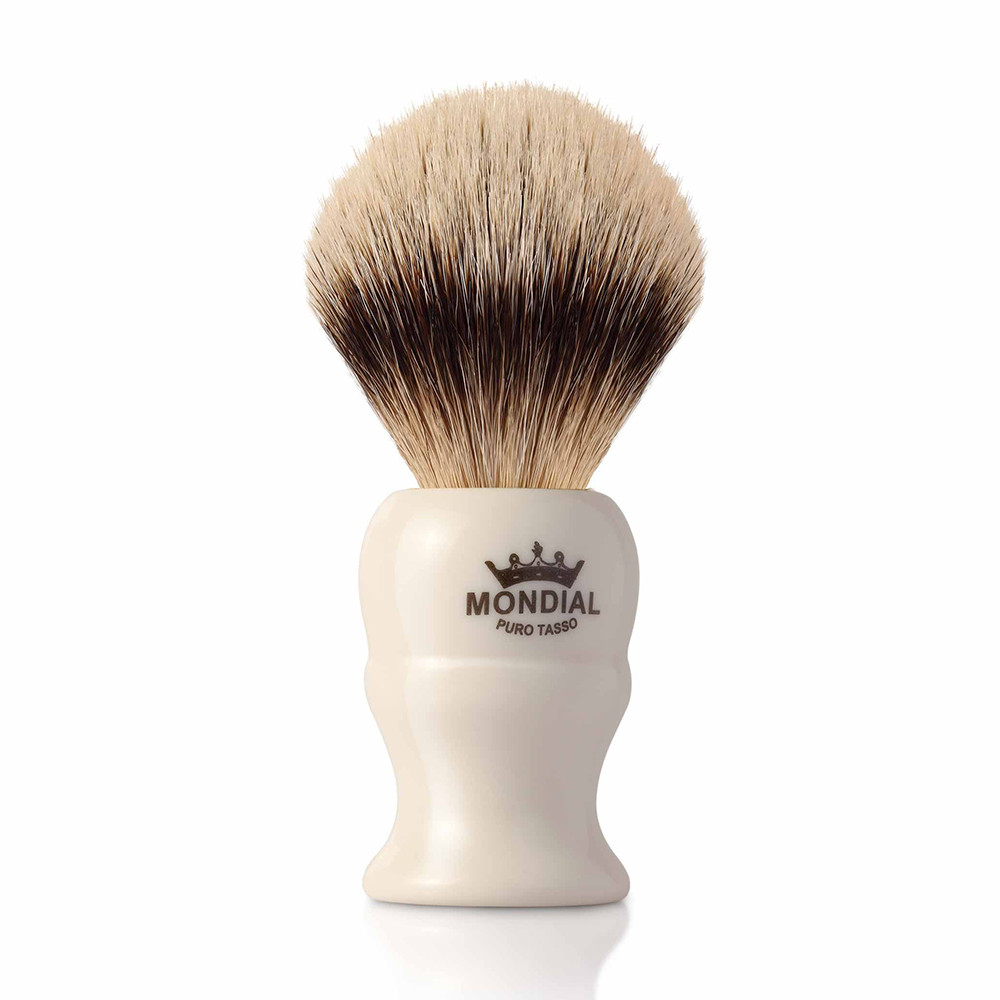 Image of   Mondial Silvertip Badger Barberkost, Jermin, 22 mm, Ivory