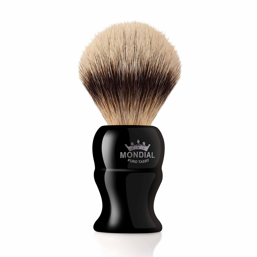 Image of   Mondial Silvertip Badger Barberkost, Kinsley, 22 mm, Sort kunstharpiks