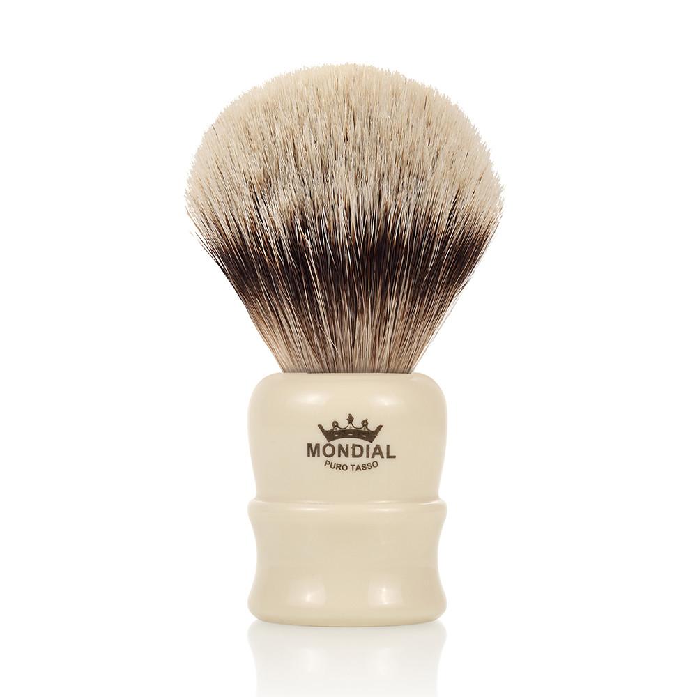 Image of   Mondial Silvertip Badger Barberkost, Lancaster, Ivory